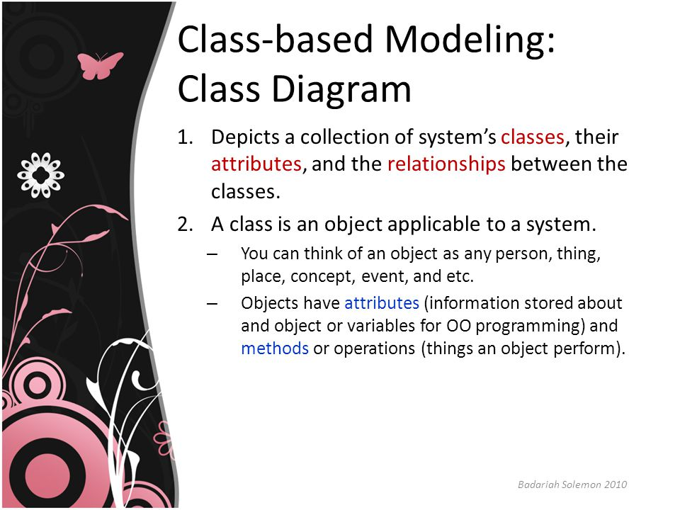 Class-based Modeling: Class Diagram