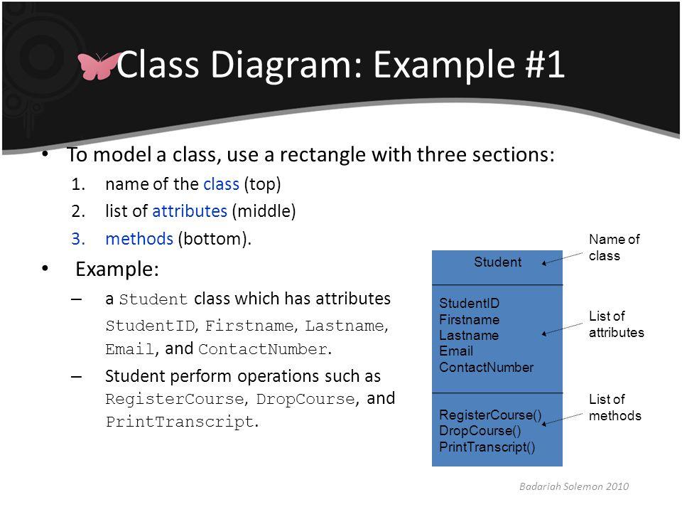 Class Diagram: Example #1