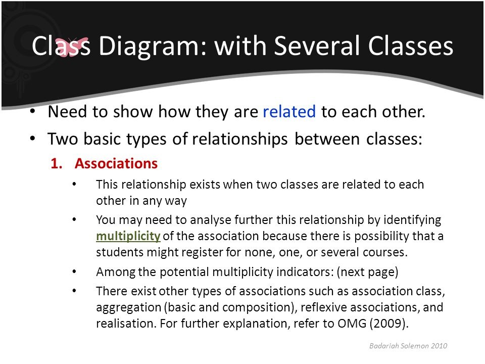 Class Diagram: with Several Classes