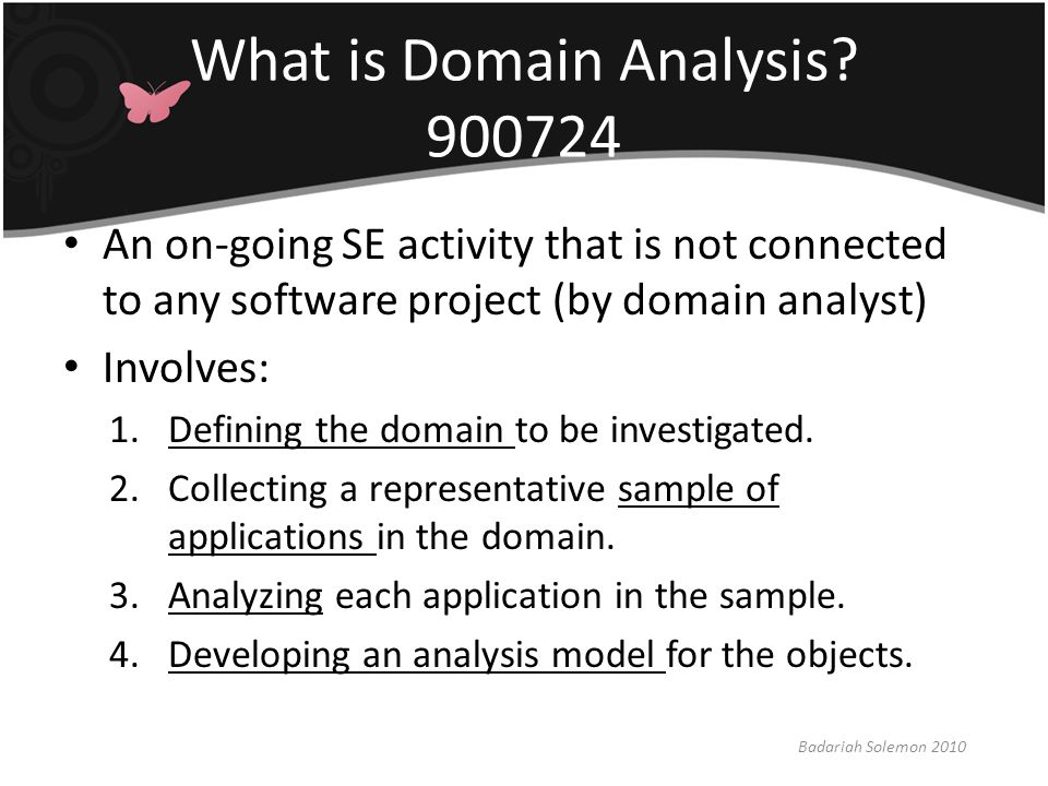 What is Domain Analysis 900724