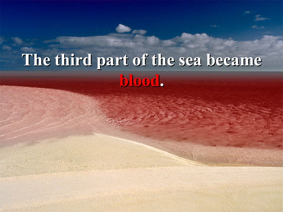 The third part of the sea became blood.