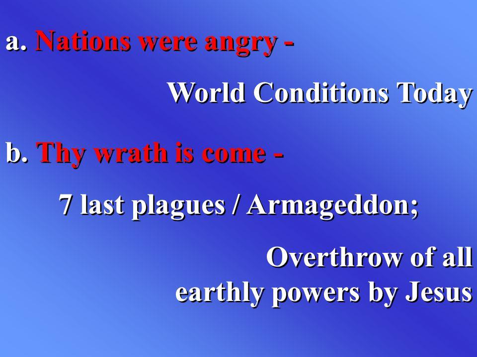 7 last plagues / Armageddon;