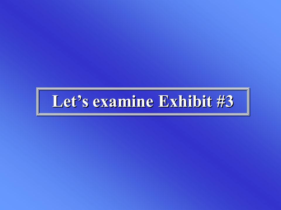 Let's examine Exhibit #3