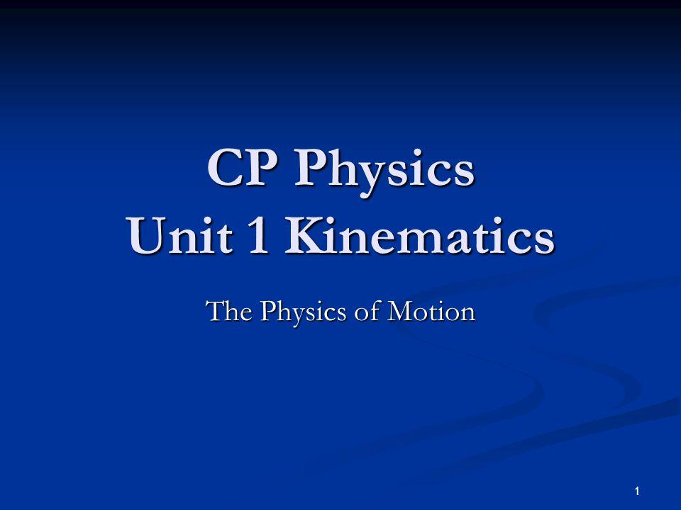 CP Physics Unit 1 Kinematics