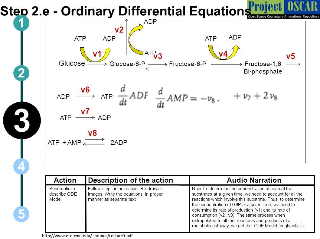 Step 2.e - Ordinary Differential Equations