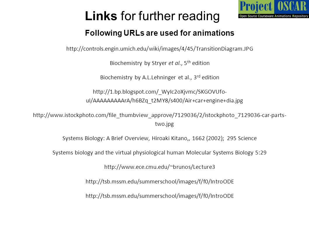 Links for further reading