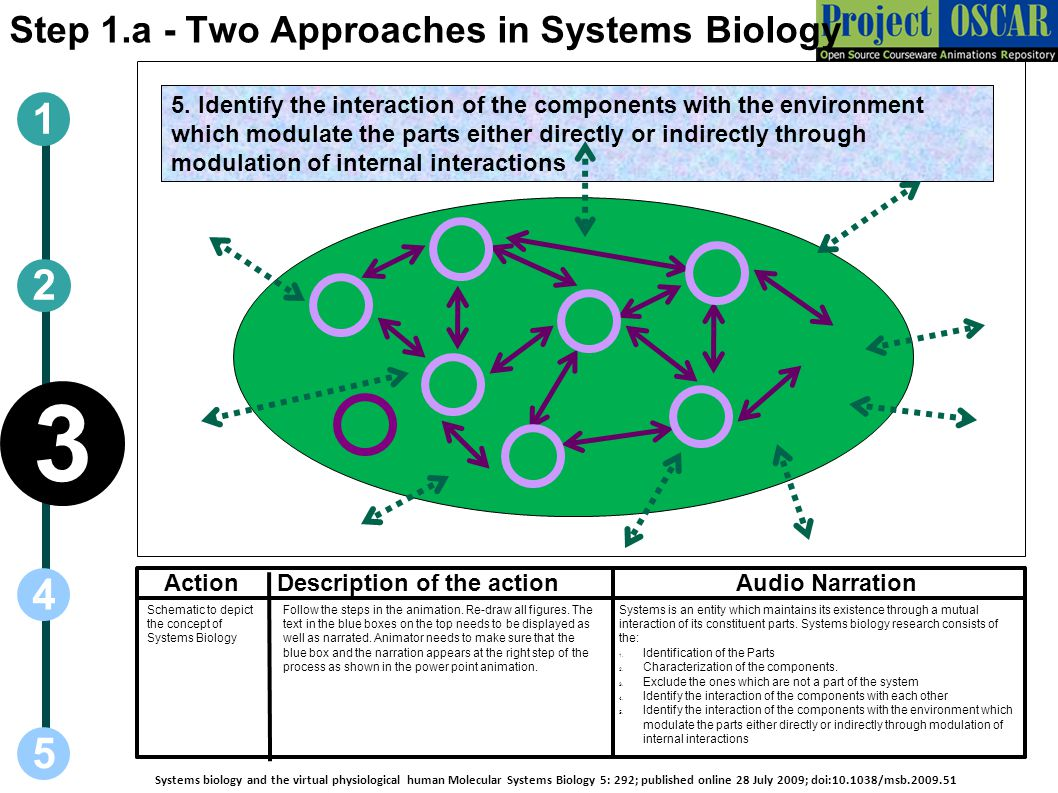 3 1 2 4 5 Step 1.a - Two Approaches in Systems Biology