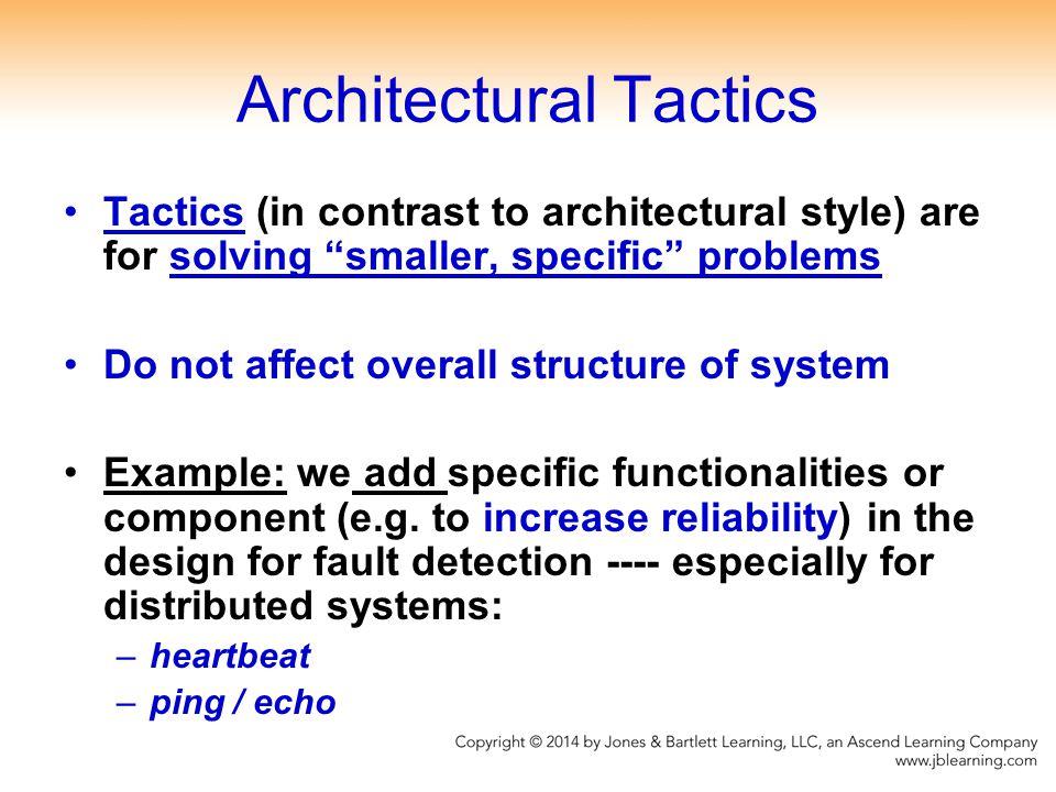 Architectural Tactics
