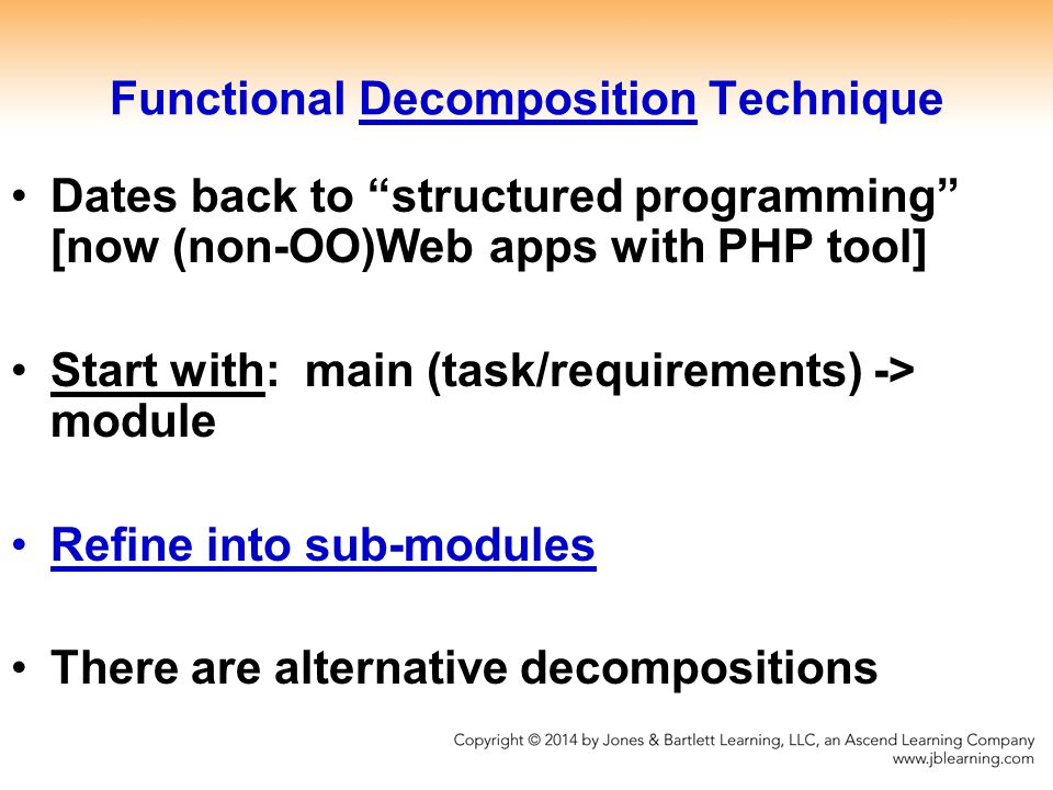 Functional Decomposition Technique