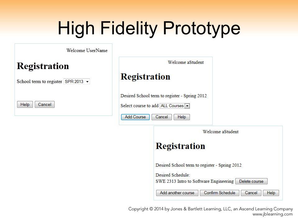 High Fidelity Prototype