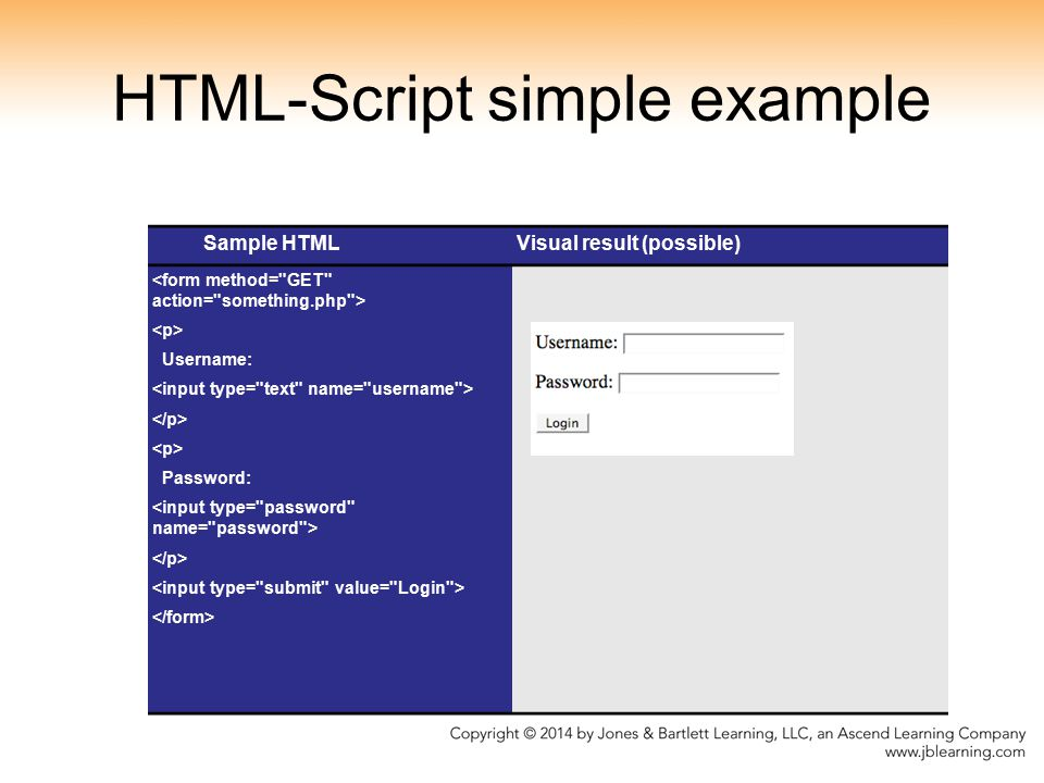 HTML-Script simple example