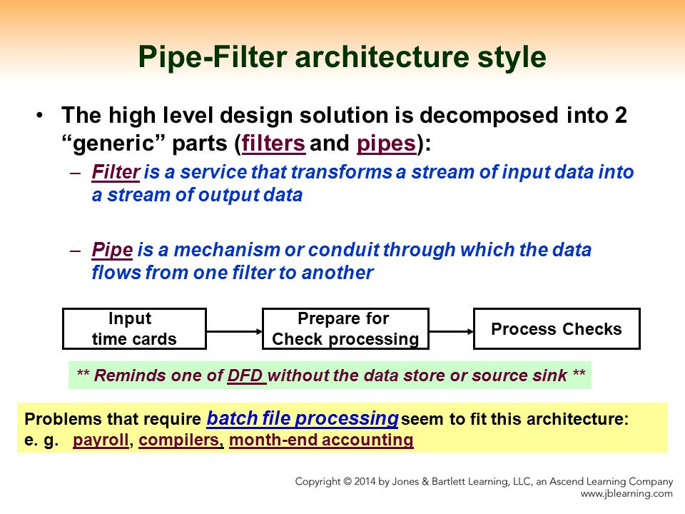 Pipe-Filter architecture style