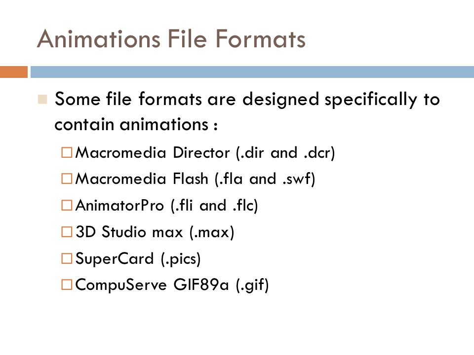 Animations File Formats