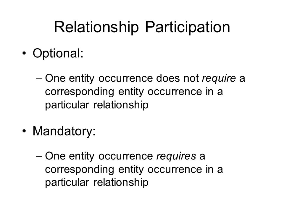 Relationship Participation