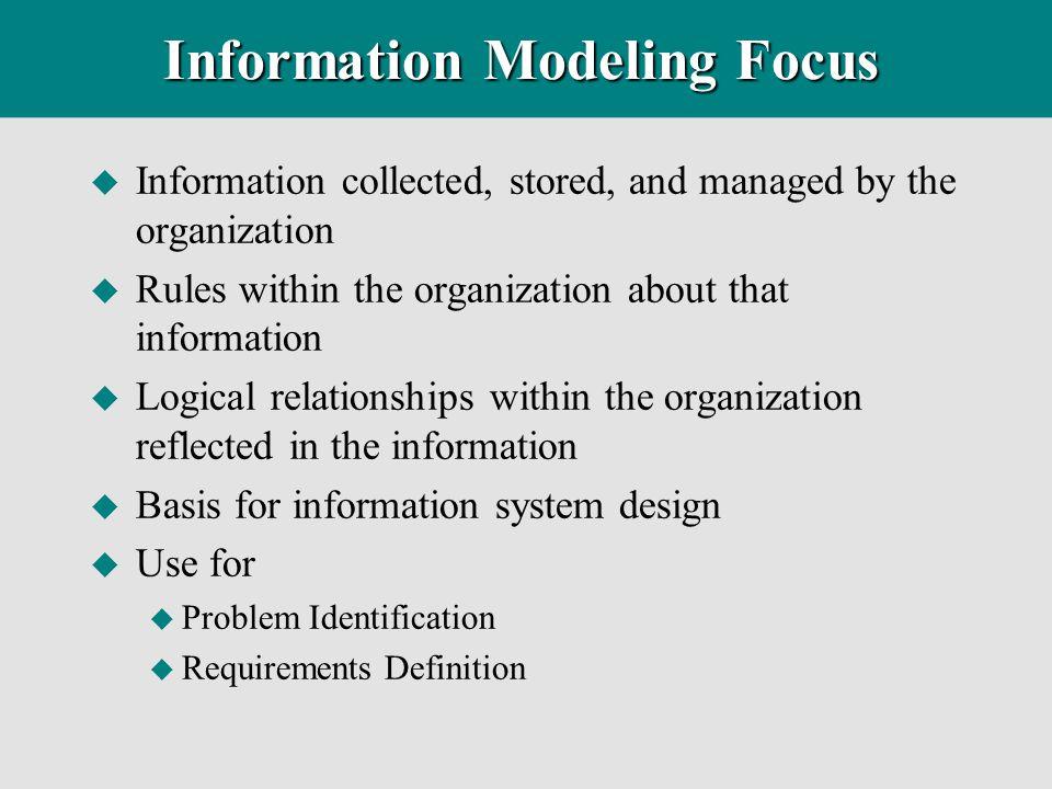 Information Modeling Focus