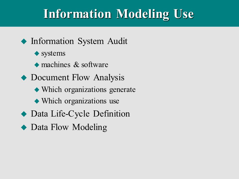 Information Modeling Use