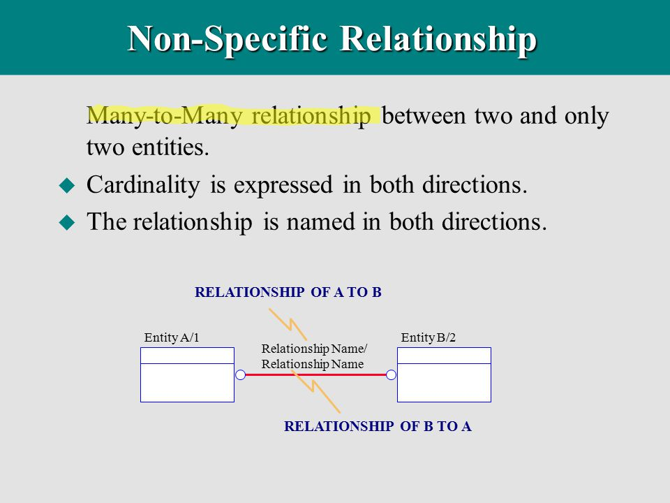 Non-Specific Relationship