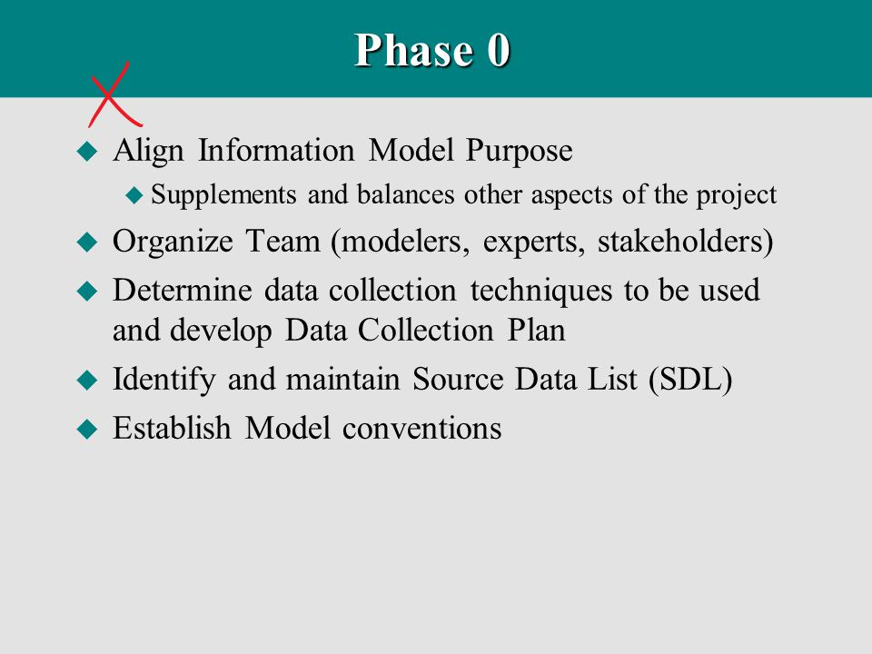 Phase 0 Align Information Model Purpose