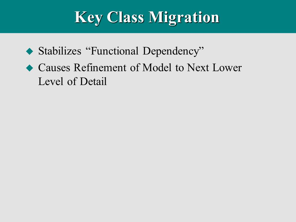 Key Class Migration Stabilizes Functional Dependency