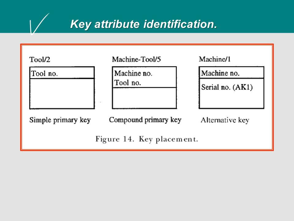 Key attribute identification.