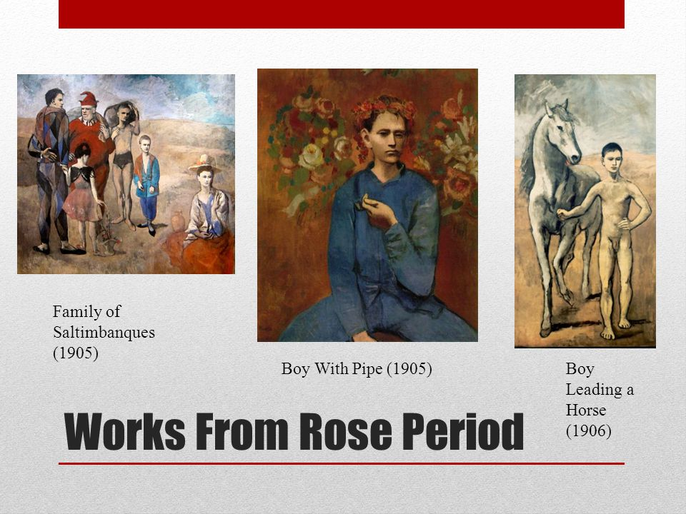 Works From Rose Period Family of Saltimbanques (1905)