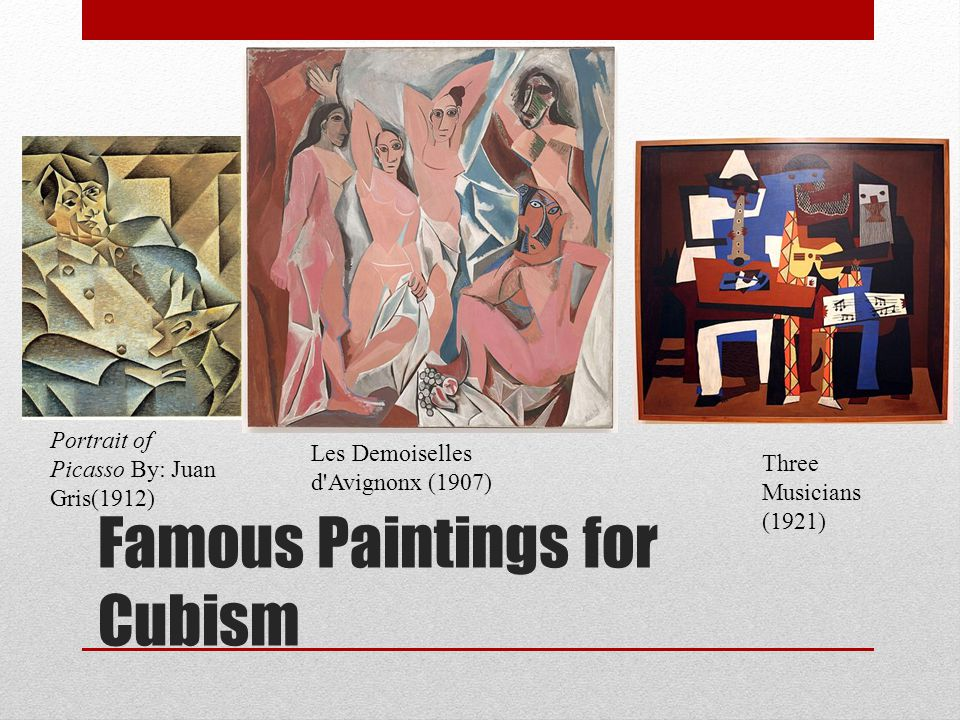 Famous Paintings for Cubism