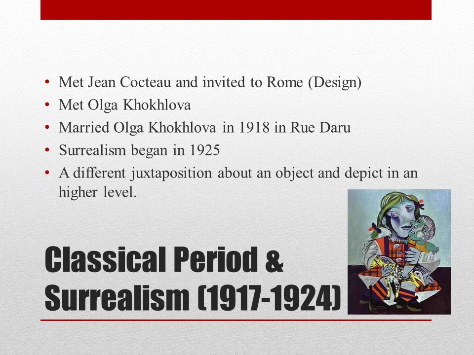 Classical Period & Surrealism (1917-1924)