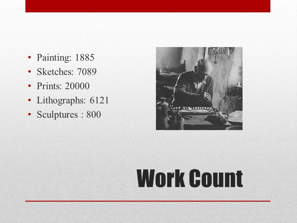 Work Count Painting: 1885 Sketches: 7089 Prints: 20000