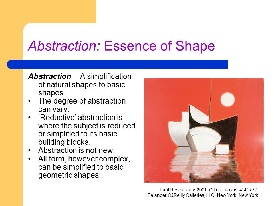 Abstraction: Essence of Shape