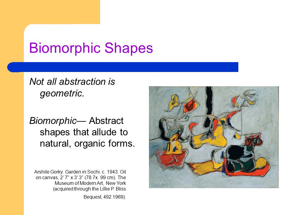 Biomorphic Shapes Not all abstraction is geometric.