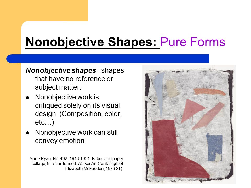 Nonobjective Shapes: Pure Forms