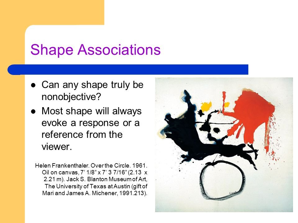 Shape Associations Can any shape truly be nonobjective