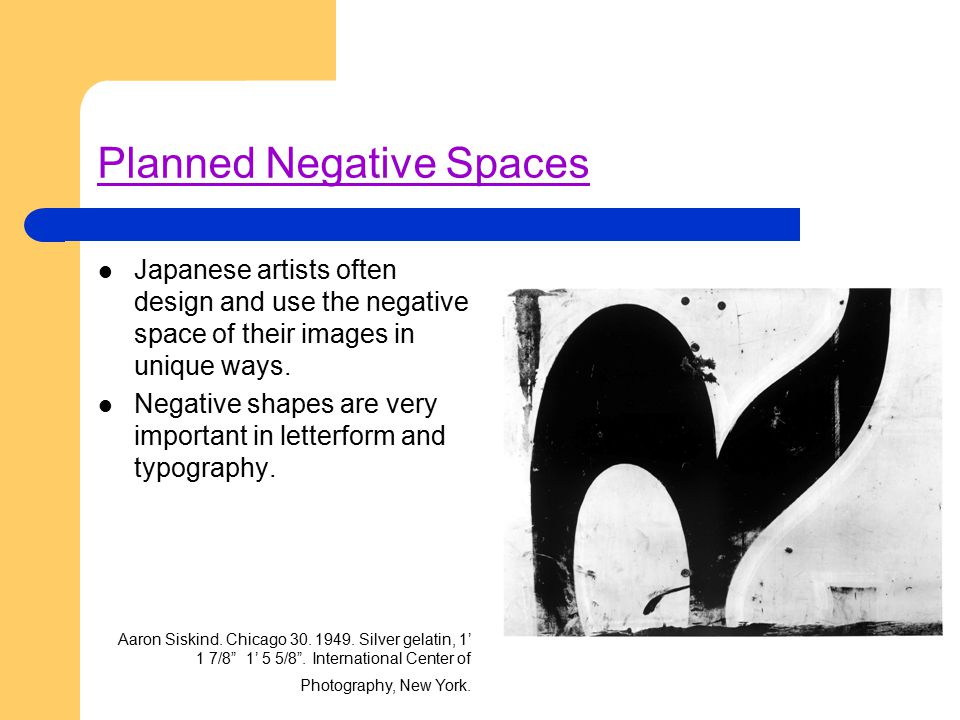 Planned Negative Spaces