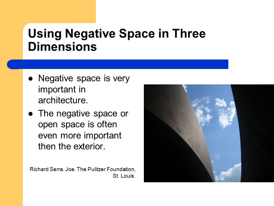 Using Negative Space in Three Dimensions