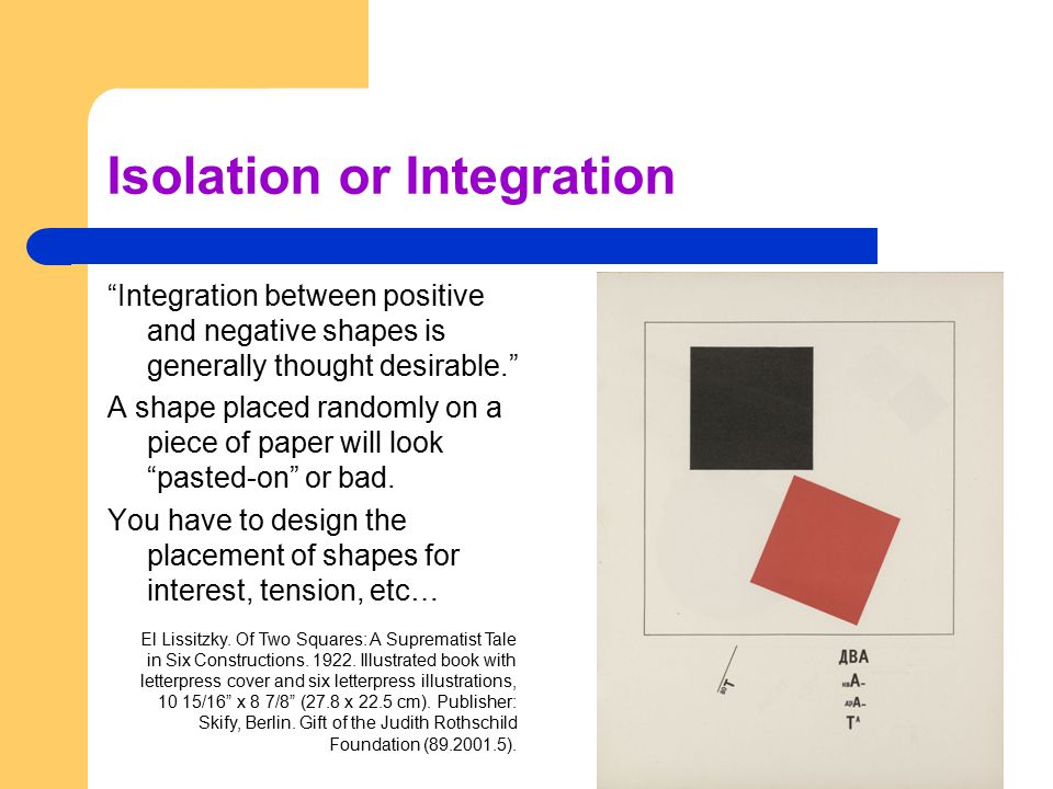 Isolation or Integration