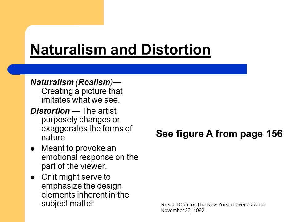 Naturalism and Distortion
