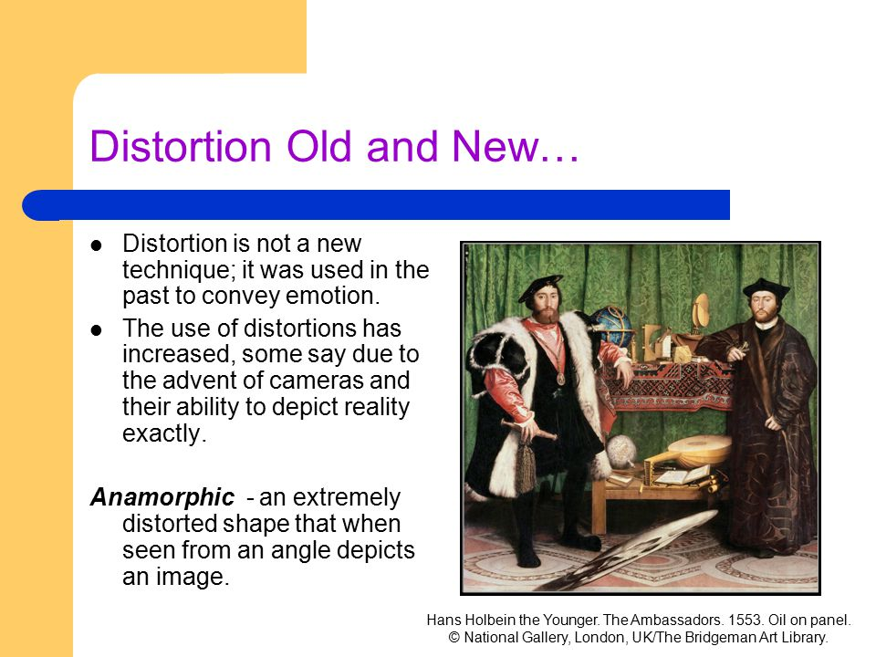 Distortion Old and New…
