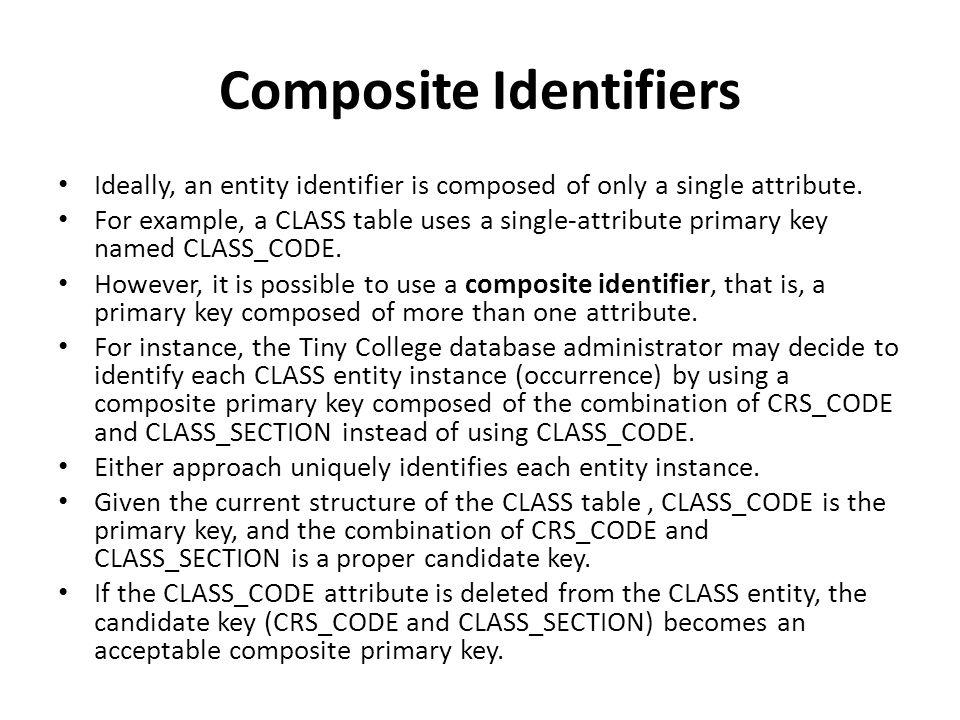 Composite Identifiers