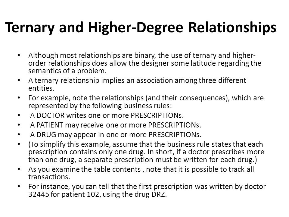 Ternary and Higher-Degree Relationships