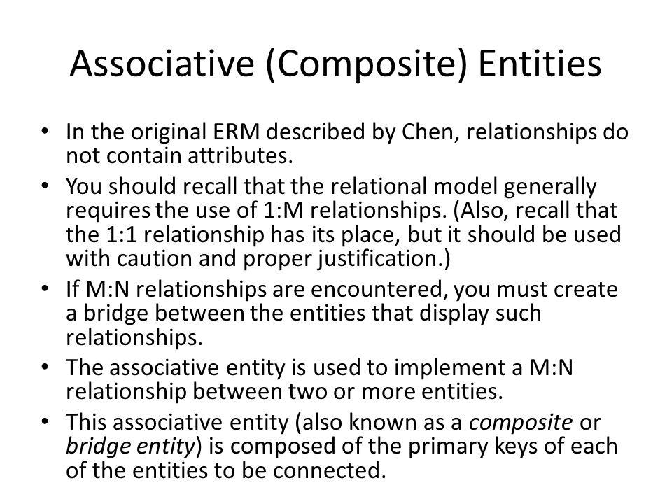 Associative (Composite) Entities