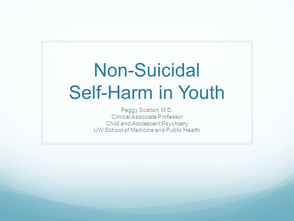 Non-Suicidal Self-Harm in Youth