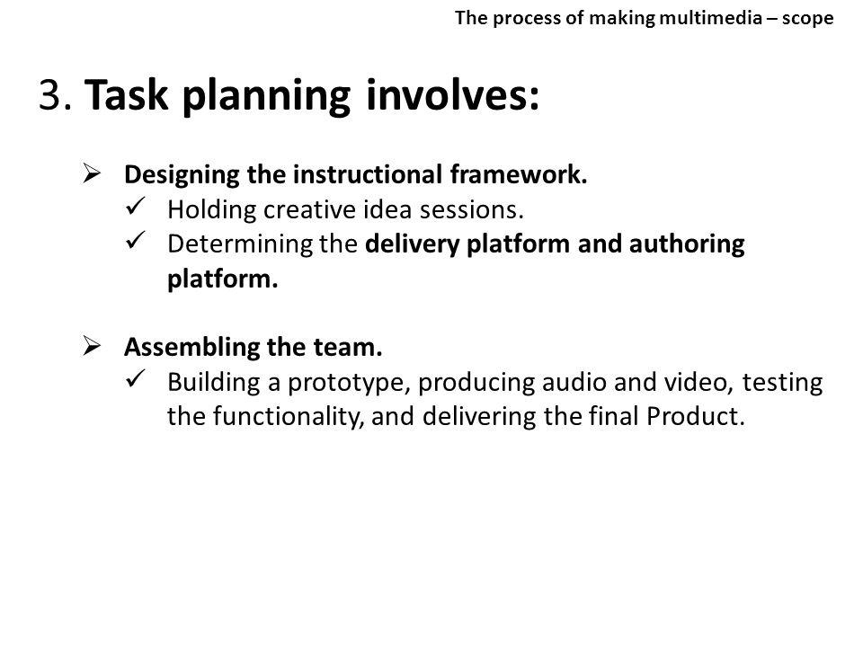 3. Task planning involves: