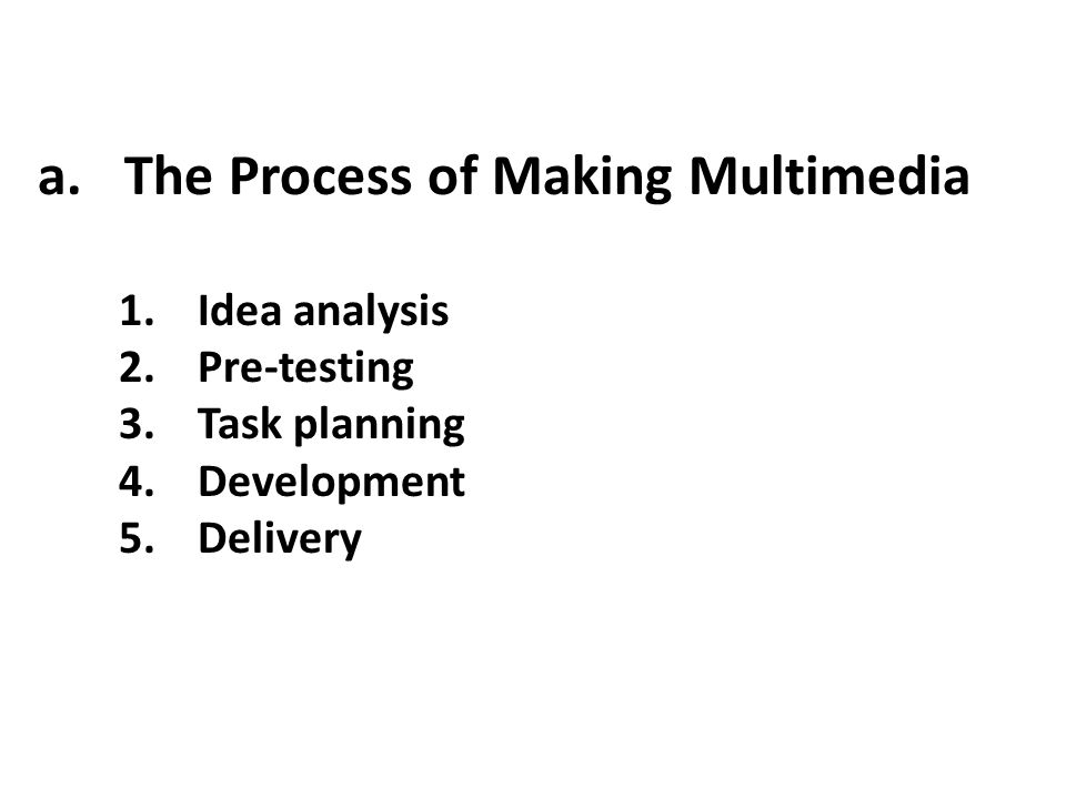 The Process of Making Multimedia