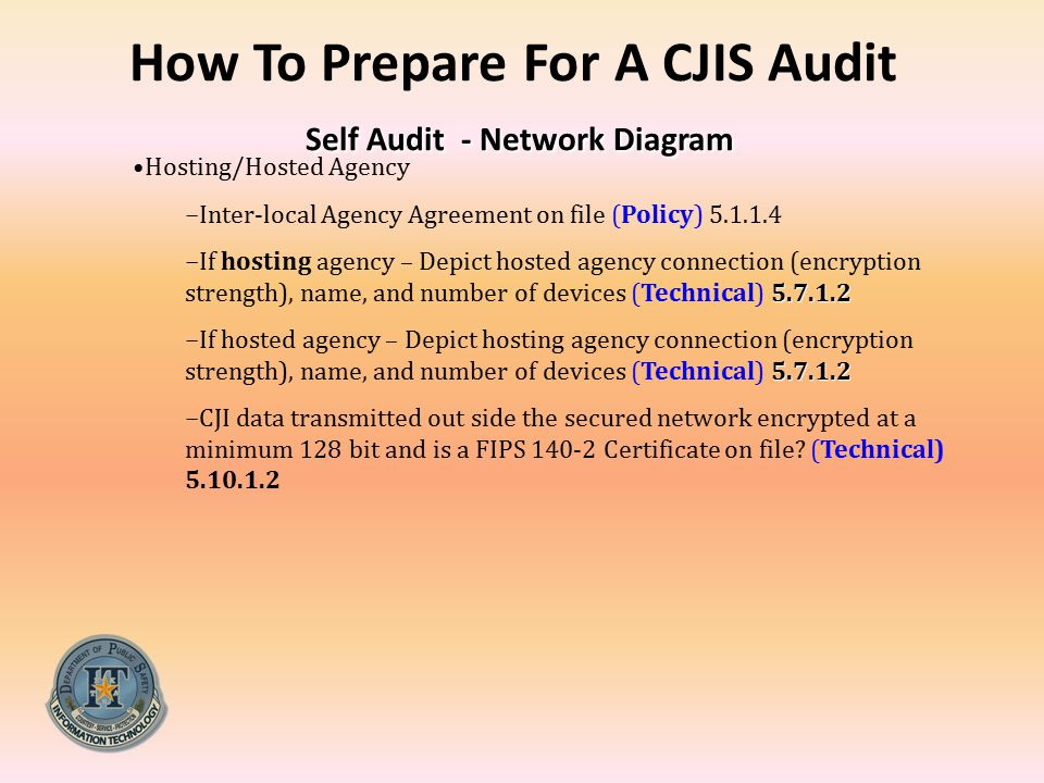 How To Prepare For A CJIS Audit Self Audit - Network Diagram