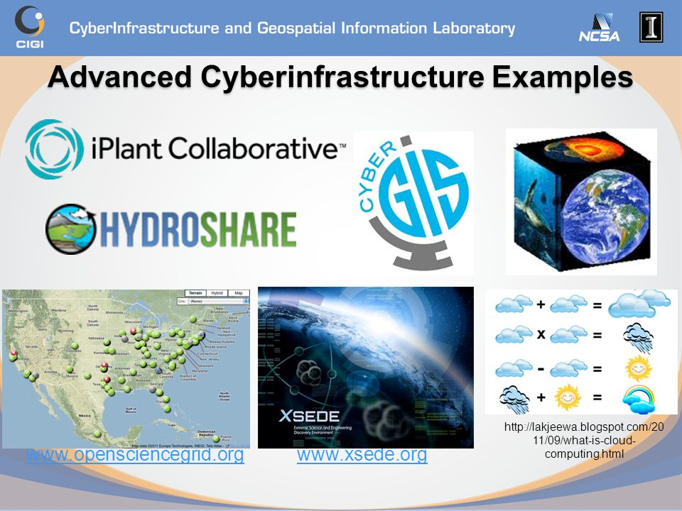 Advanced Cyberinfrastructure Examples