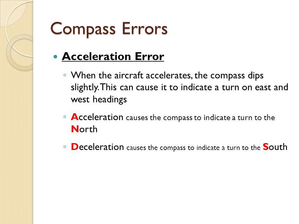Compass Errors Acceleration Error
