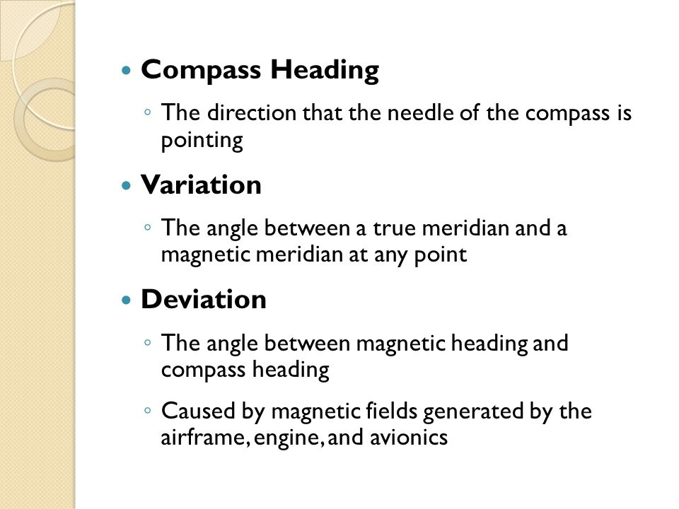Compass Heading Variation Deviation