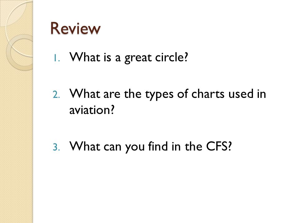Review What is a great circle