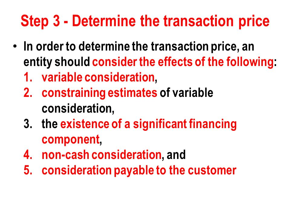 Step 3 - Determine the transaction price