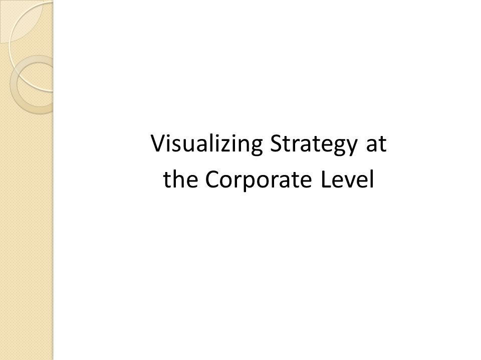 Visualizing Strategy at the Corporate Level
